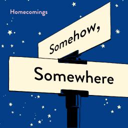 「Somehow, Somewhere」ジャケットデザインステッカー(90mm×90mm)