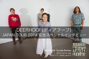 DEERHOOF(ディアフーフ) JAPAN TOUR 2014 記念スペシャルインタビュー