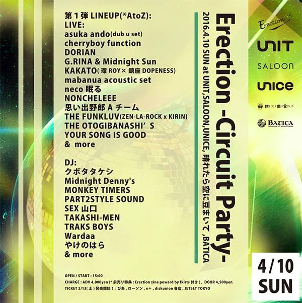 Erection -Circuit Party-