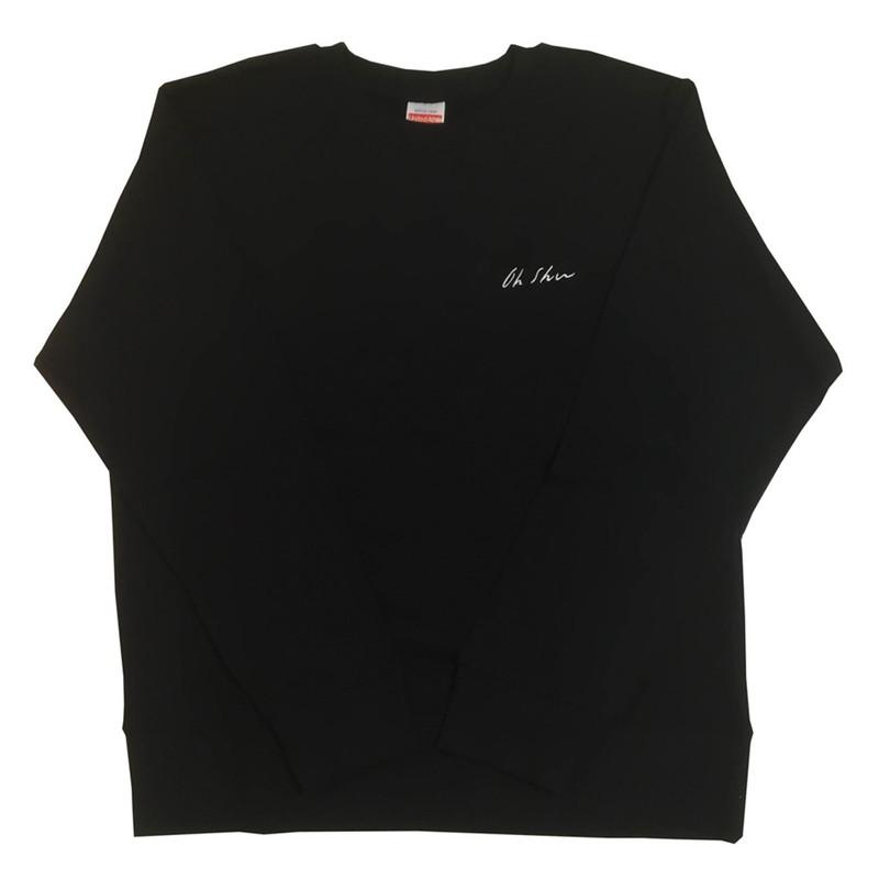 王舟 logo 刺繍 スウェット(ブラック)